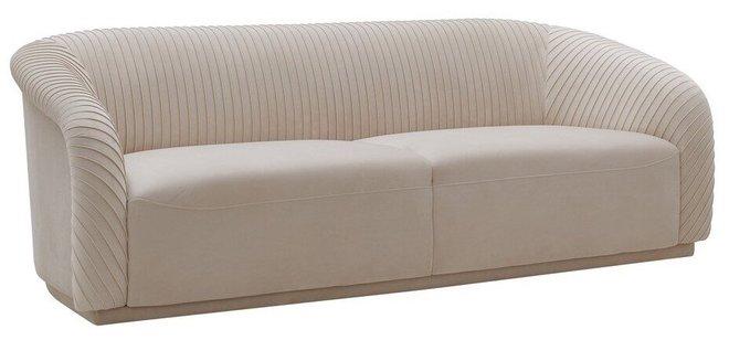 Yara Pleated Sofa Beige