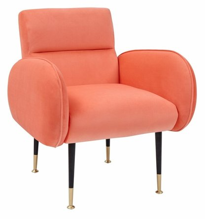 Babe Chair Coral & Gold