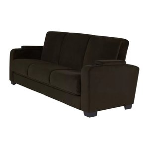 Acubens Convertible Sleeper Sofa Brown