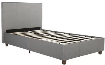 Ramsay Lakes Upholstered Platform Twin Bed Gray