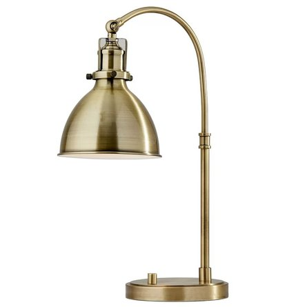 "Kains 20"" Table Lamp Antique Brass"