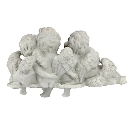 Shelf Sitting Angel Sculpture Antique Stone