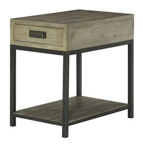 Winooski Wood End Table Black