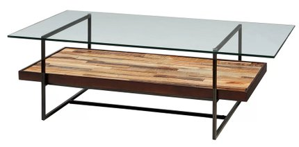 Macrae Coffee Table with Magazine Rack Brown
