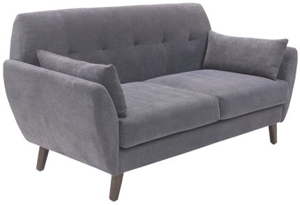 Ladenida Modern Amelie Loveseat Dark Gray