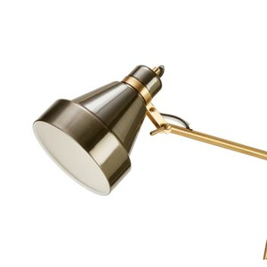 """Horace 58"""" Arched Floor Lamp Plated Nickel"""