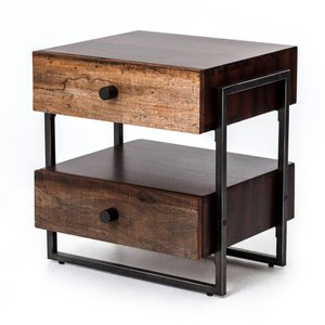 Four Hands Milo End Table Warm Brown Acacia