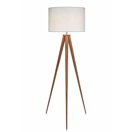 "Erans 60.23"" Tripod Floor Lamp White/Tan"