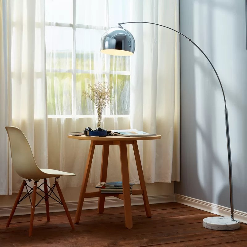 Angelou Arched Floor Lamp Chrome