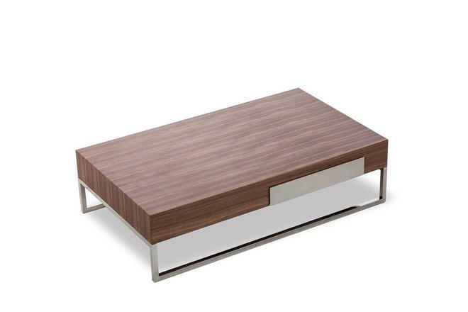 Agate Modern Coffee Table Walnut