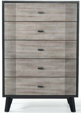 Panther Contemporary Chest Desk Gray