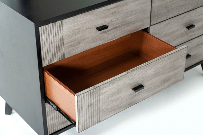 Panther Contemporary Dresser Gray & Black