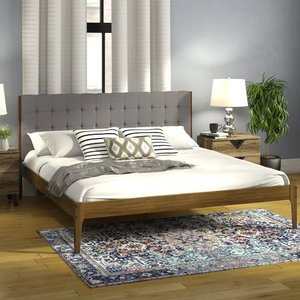 Parrott Wood Platform Queen Bed Light Gray