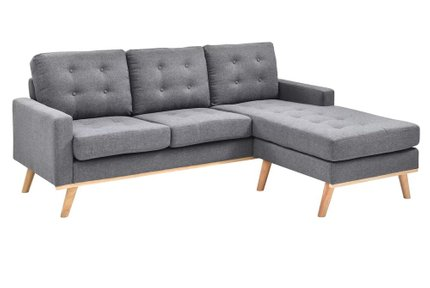Brenda Reversible Sectional Sofa Gray