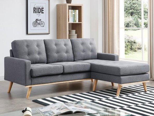Brenda Reversible Sectional Sofa Gray