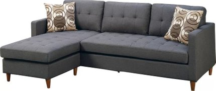 Citrine Reversible Sectional Gray
