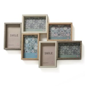 Shepha Wood Collage Picture Frame Brown