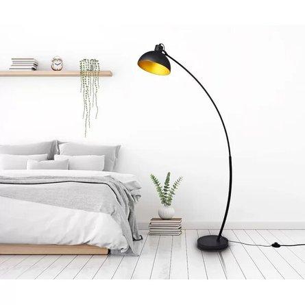 """Prosper 63"""" Arched Floor Lamp Black"""