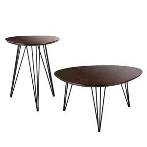 Conrad 2 Piece Coffee Table Set Dark Tobacco