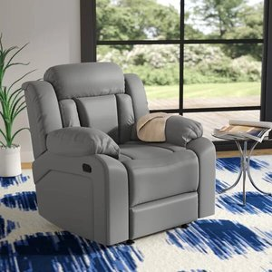Waymire Manual Rocker Recliner Sofa Gray