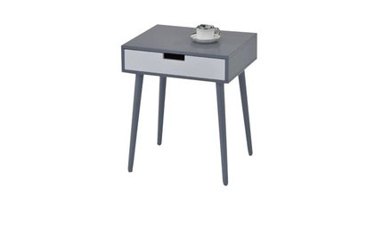 Guitierrez End Table with Storage Gray