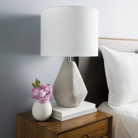"Dela 24"" Table Lamp Gray"