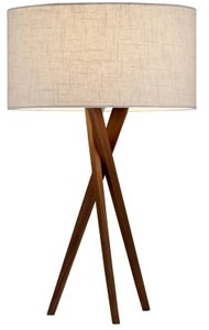 "Hayle 25"" Tripod Table Lamp Walnut"