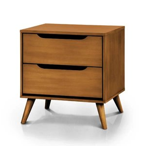 Mason 2 Drawer Nightstand Oak