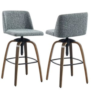 Autaugaville Adjustable Height Bar Stool Gray (Set of 2)