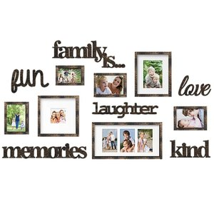 Nealy Collage Picture Frame Bronze (Set of 13)