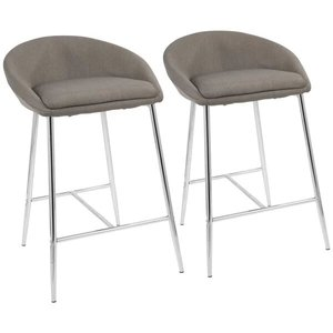 Lewallen Bar Stool Gray (Set Of 2)