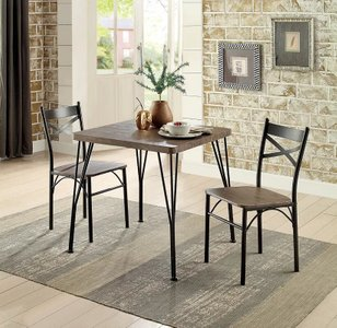 Guertin 3 Piece Dining Set Brown