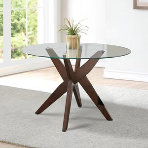 Barbee Dining Table Clear/Brown