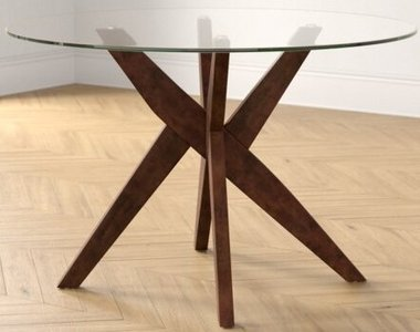 Barbee Dining Table Clear And Brown