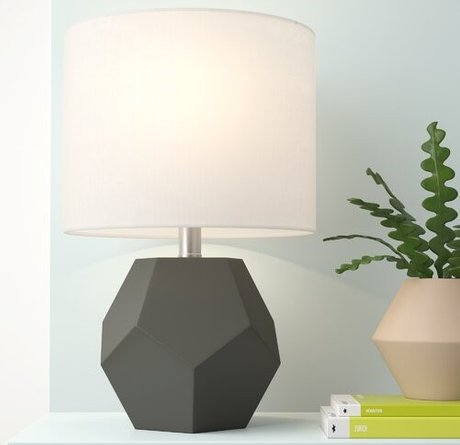 Mallen 17'' Table Lamp Charcoal