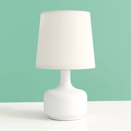 "Margaux Modern Touch 17"" Table Lamp White"