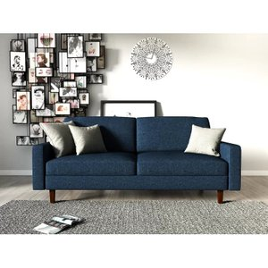 McKenly Modern Sofa Dark Blue