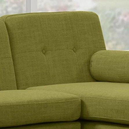 Altheimer Mid Century Modern Modular Sectional Sofa Green