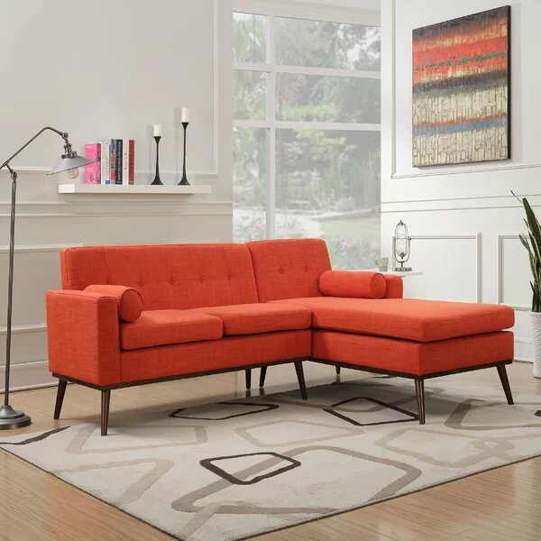 Super Altheimer Mid Century Modern Modular Sectional Sofa Orange Forskolin Free Trial Chair Design Images Forskolin Free Trialorg
