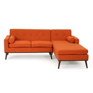 Altheimer Mid Century Modern Modular Sectional Sofa Orange