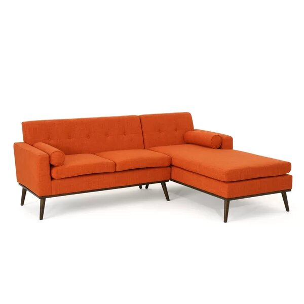 Superb Altheimer Mid Century Modern Modular Sectional Sofa Orange Forskolin Free Trial Chair Design Images Forskolin Free Trialorg