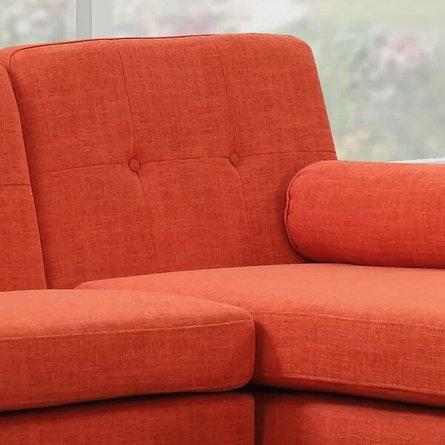 Altheimer Mid Century Modern Modular Sectional Sofa Orange