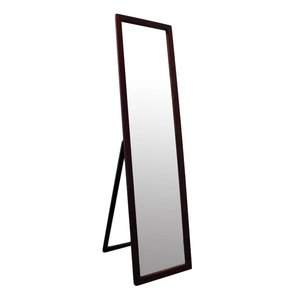 Zara Full Length Rectangle Stand Mirror Dark Walnut