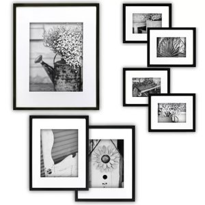 Abner Picture Frame Black (Set of 7)