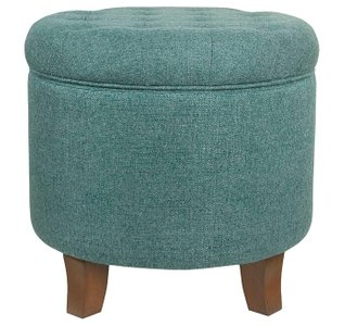 Poston Storage Ottoman Teal