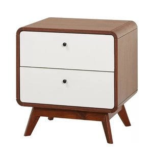 Trinity 2 Drawer Nightstand White And Walnut