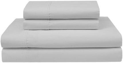 Pliner 4-Piece Wrinkle Free Cotton Full Sheet Set White