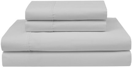Pliner 4-Piece Wrinkle Free Cotton Queen Sheet Set White