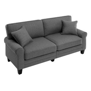 Buxton Rolled Arm Loveseat Gray