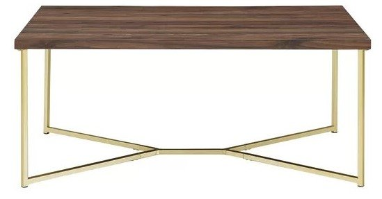 Devito Coffee Table Gold And Walnut